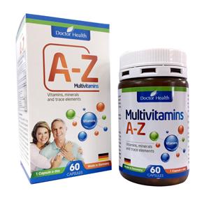 VIÊN BỔ TỔNG HỢP A-Z (24 VITAMINS VÀ KHOÁNG CHẤT)- A- Z  MULTIVITAMINS CAPSULES 600 Mg