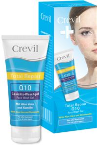 GEL RỬA MẶT DƯỠNG DA, NGỪA MỤN Q10 CREVIL TOTAL REPAIR FACE WASH GEL Q10 – 200ml